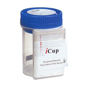 iCup - 9 panel (25 count) COC THC OPI AMP mAMP PCP BZO BAR PPX